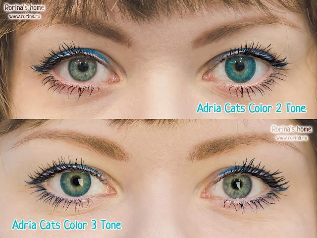 Цветные линзы Adria Cats на глазах