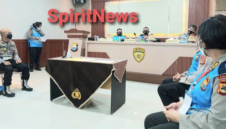 Wakapolda Sulsel, Pimpin Sidang Hasil Rikkes Awal Penerimaan SIPSS TA 2021