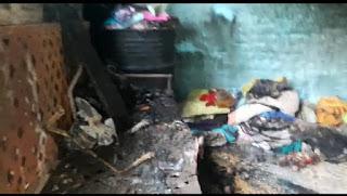 बहादरपुर में शार्ट सर्किट होने से घर मे लगी आग, गृहस्थी का पूरा सामान जलकर हुआ ख़ाक