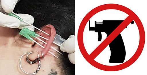 4 raisons pour lesquelles on doit pas pas se faire percer avec le pistolet perce-oreille