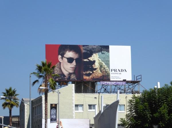Eddie Redmayne Prada Eyewear F16 billboard