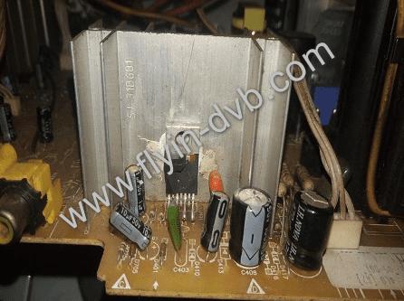 TV Polytron Slim IC Vertikal Jebol