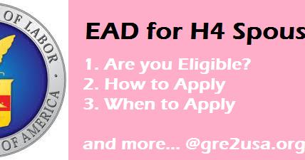 BIG NEWS: EAD for H4 ~ gre2usa