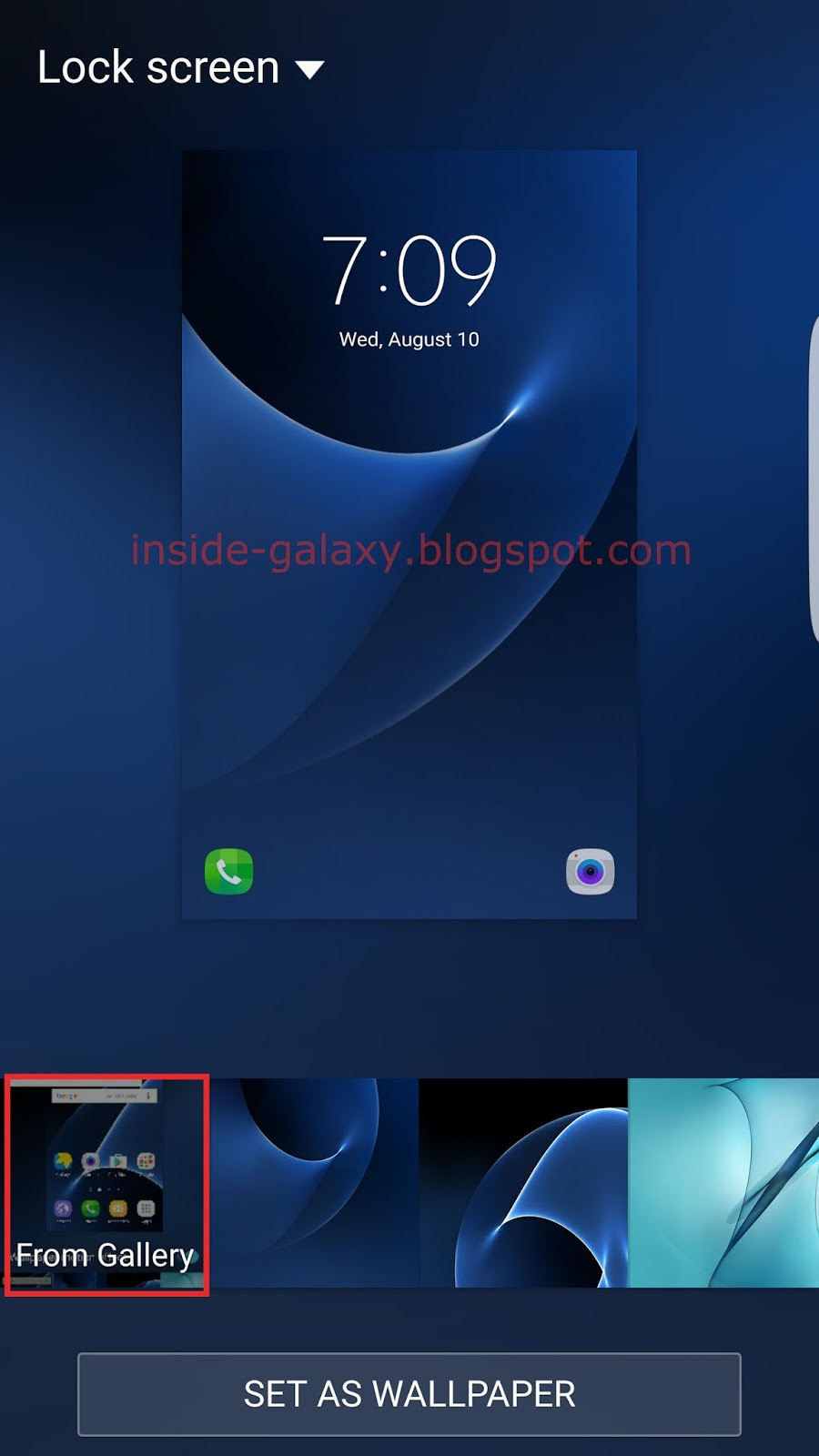 Samsung Galaxy S7 Edge How To Change Lock Screen Wallpaper In