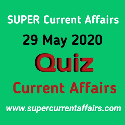 29 May 2020 Current Affairs Quiz in Hindi