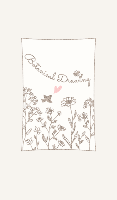 Botanical Drawing/Beige13