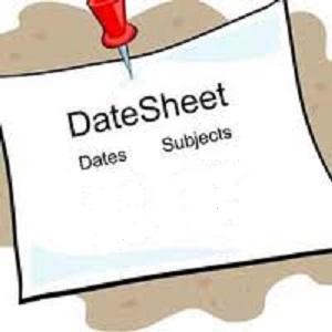 9th Class   10th Class Date Sheets
