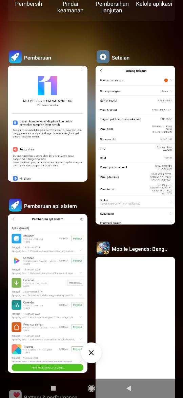 cara mudah mematikan Aplikasi yang berjalan di Mobile Legend