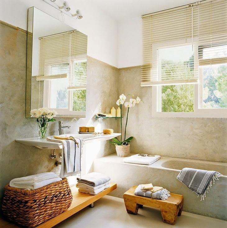 Baño Pequeno Microcemento:baños baños con encanto baños modernos baños grandes baños