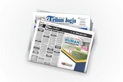 pasang iklan rumah disewakan koran Tribun Jogja