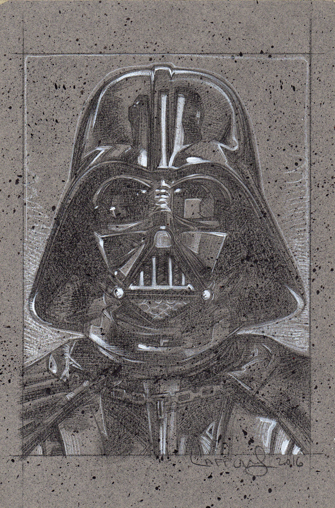 Darth Vader Pencil Study, Artwork© Jeff Lafferty