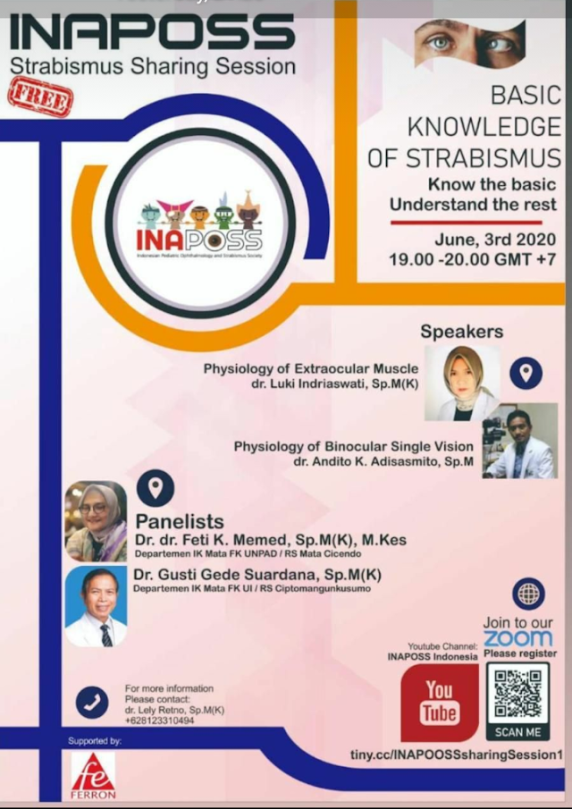 Webinar : Basic Knowledge of Strabismus Rabu, 3 Juni 2020