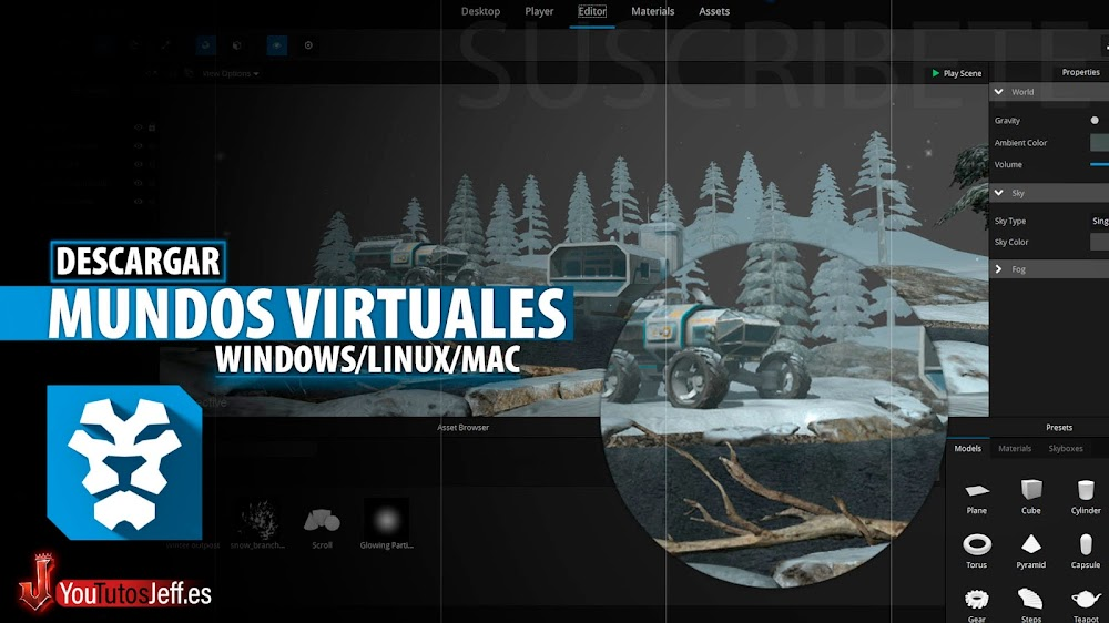 Creador de Mundos Virtuales, Descargar Jahshaka Ultima Versión para PC