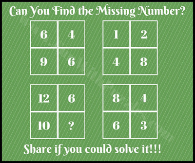 Mind teasing math quiz picture puzzle