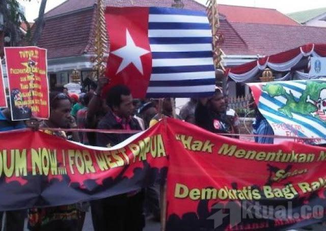 Demo Bawa Bendera Bintang Kejora Membisu, Banser Teriak Saat Ada Bawa Bendera Tauhid