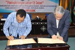 Pemrov NTB Tandatangani LOI Kerjasama Bidang Pendidikan Dengan Chadong University