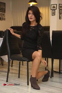 Actress Kimaya Phtoos in Black Short Dress at Kotha Kothaga Unnadi Press Meet .COM 0097.JPG