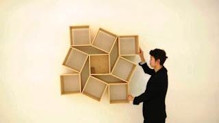 Model Rak Buku Tempel Minimalis