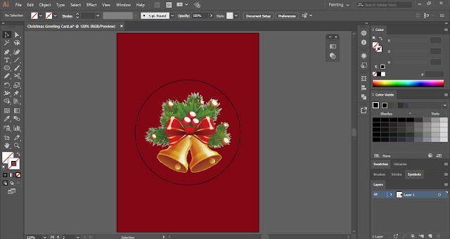 Christmas Greeting Card in Adobe Illustrator