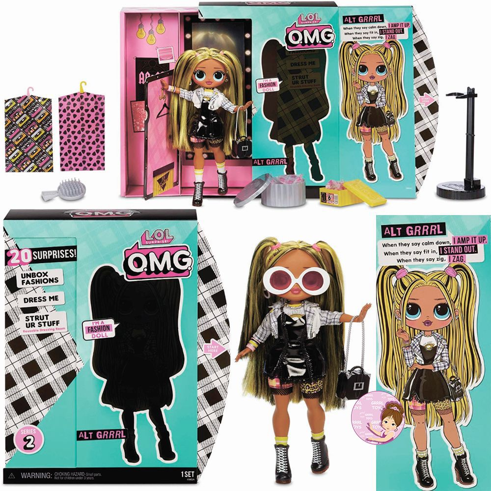 Alt Grrrl L.O.L. Surprise O.M.G. poseable doll from series 2 release