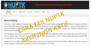 File Pendidikan √ Cara Cek Status NUPTK Aktif Atau Non aktif/Dibekukan