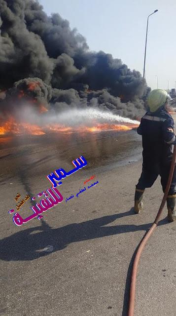 حادث مأساوي | حريق طريق مصر الاسماعيلية الصحراوي