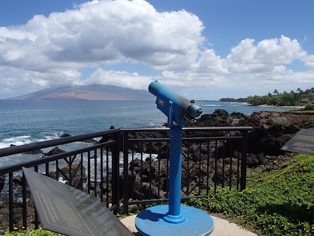 view of Lana'i from Wailea