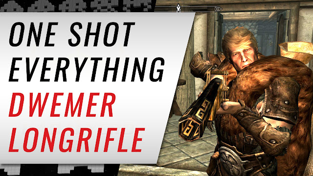 One Shot Everything with the DWEMER LONGRIFLE! Skyrim Mod