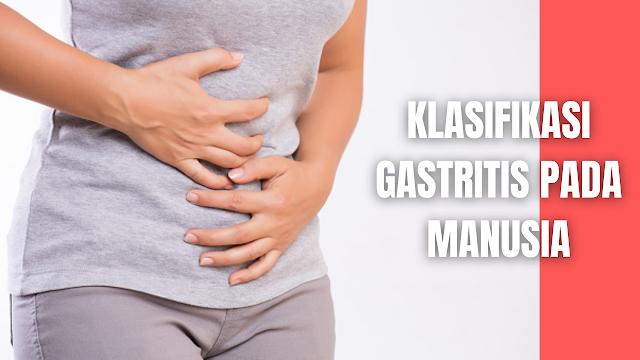 "Klasifikasi Gastritis Pada Manusia Klasifikasi gastritis kronis pada manusia adalah sebagai berikut :  Gastritis Akut Gastritis akut adalah inflamasi akut mukosa lambung pada sebagian besar merupakan penyakit yang ringan dan sembuh sempurna. Salah satu bentuk gastritis akut yang manifestasi klinisnya adalah:  Gastritis akut erosif Gastritis akut erosif disebut erosif apabila kerusakan yang terjadi tidak lebih dalam dari pada mukosa muscolaris (otot-otot pelapis lambung).  Gastritis akut hemoragic Gastritis akut hemoragic disebut hemoragic karena pada penyakit ini akan dijumpai perdarahan mukosa lambung dalan berbagai derajat dan terjadi erosi yang berarti hilangnya kontunuitas mukosa lambung pada beberapa tempat, menyertai inflamasi pada mukosa lambung tersebut.    Gastritis Kronis Gastritis kronis adalah suatu peradangan permukaan mukosa lambung yang bersifat menahun. Gastritis kronik diklasifikasikan dengan tiga perbedaan sebagai berikut :  Gastritis Superfisial Gastritis superfisial, dengan manifestasi kemerahan ; edema , serta perdarahan dan erosi mukosa.  Gastritis Atrofik Gastritis atrofik, dimana peradangan terjadi di seluruh lapisan mukosa pada perkembanganya dihubungkan dengan ulkus dan kanker lambung, serta anemia pernisiosa. Hal ini merupakan karakteristik dari penurunan jumlah sel parietal dan sel chief.  Gastritis Hipertrofik Gastritis hipertrofik, suatu kondisi dengan terbentuknya nodulnodul pada mukosa lambung yang bersifat iregular, tipis, dan hemoragik.    Nah itu dia bahasan dari klasifikasi Gastritis Kronis pada manusia, melalui bahasan di atas bisa diketahui mengenai klasifikasi Gastritis Kronis pada manusia. Mungkin hanya itu yang bisa disampaikan di dalam artikel ini, mohon maaf bila terjadi kesalahan di dalam penulisan, dan terimakasih telah membaca artikel ini.""God Bless and Protect Us"""