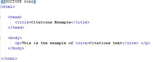 HTML Text Citations