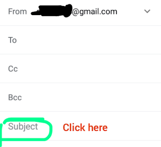 Gmail me subject ka value