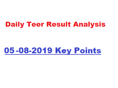 teer result of 05-08-2019 and analysis