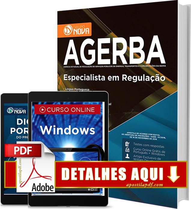 Apostila AGERBA 2016 Especialista em Regulação Impressa