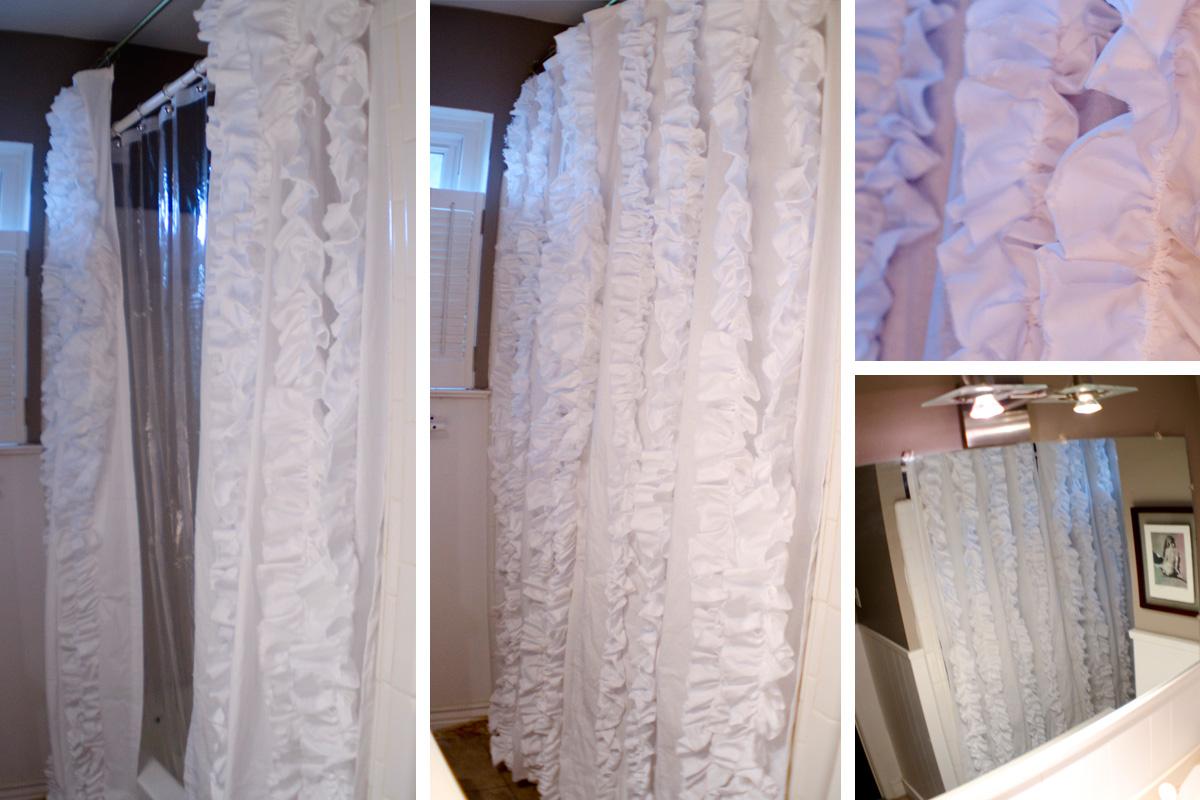 My CRay of Life Ruffle Shower Curtain