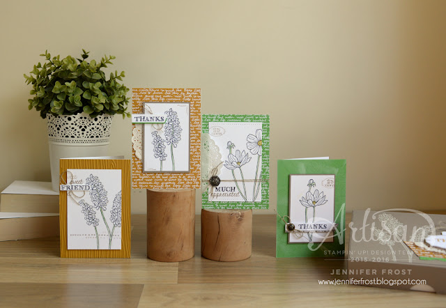 Helping Me Grow, Boxed Gift Set of Cards, Stampin' Up!, Papercraft by Jennifer Frost, In Color Paper Stack, Delightful Dijon, Cucumber Crush, Tip Top Taupe