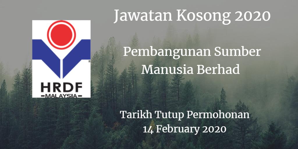 Jawatan Kosong HRDF 14 February 2020