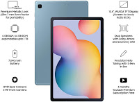 Amazon.in: Buy Samsung Galaxy Tab S6 Lite 26.31 cm (10.4 inch), S-Pen in Box, Slim and Light, Dolby Atmos Sound, 4 GB RAM, 64 GB ROM, Wi-Fi+LTE, ...