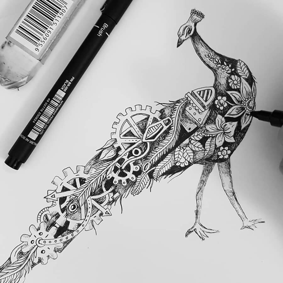 13-Peacock-Steampunk-Steve-Turner-www-designstack-co