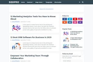 SeoPro - modelo de blogger responsivo