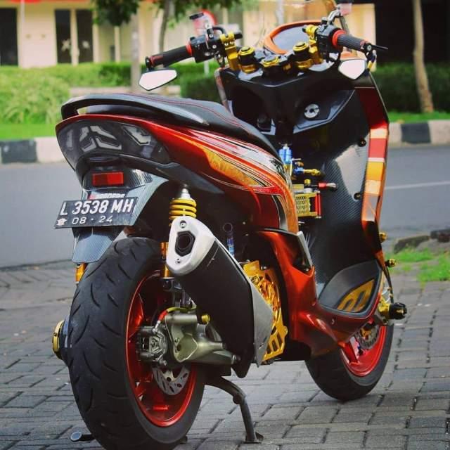 Custom Yamaha Lexi Pakai Knalpot Ninja 250 Fi