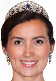 sapphire tiara luxembourg grand duchess marie adelaide princess claire