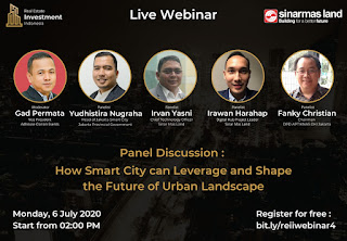 Webinar How Smart City can Leverage and Shape the Future of Urban Landscape 6 Juli 2020