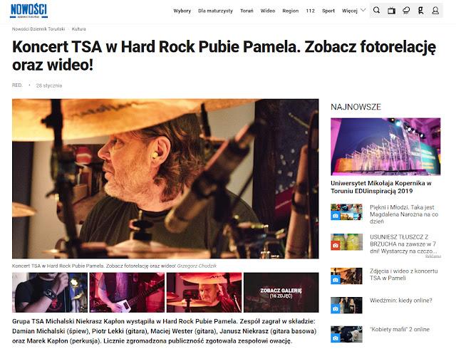 Nowości - Koncert TSA w Hard Rock Pubie Pamela. Zobacz fotorelację oraz wideo!