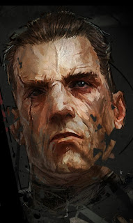 Daud's face, rendered as a painting