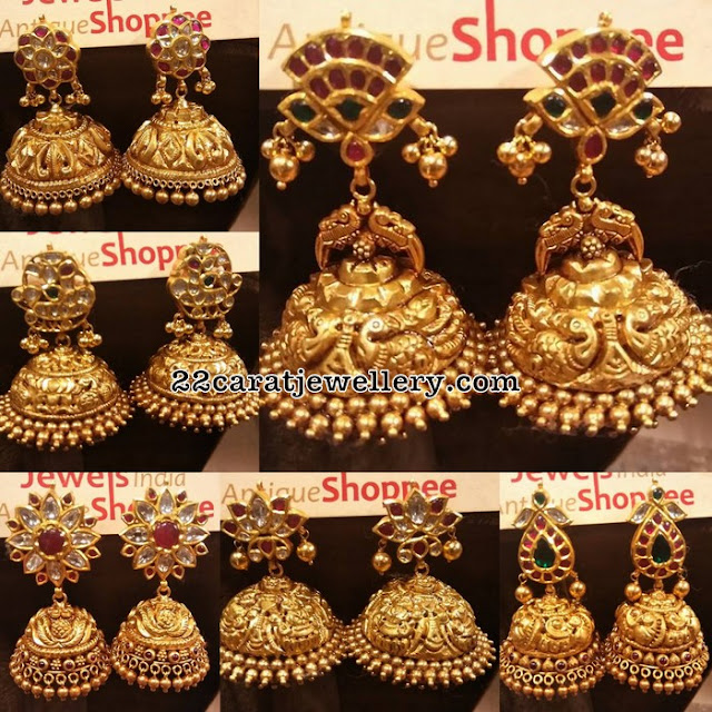 Heavy Jhumkas By Jewels India Antique Shoppee Jewellery