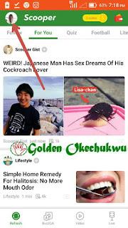 Log in to Scooper News App