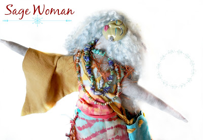Sage Woman OOAK Art Doll Cloth and Clay for Womens Empowerment