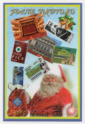 Tarjeta prefranqueada, Navidad, FASFIL