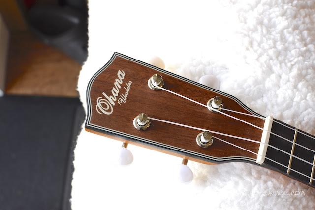 Ohana SK-14 soprano ukulele headstock