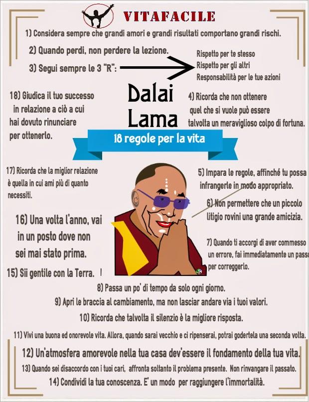 Favoloso Dalai Lama: 18 regole per vivere - VITAFACILE: la vita è una cosa  PO22